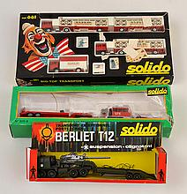 3 X SOLIDO MODELS; INCLUDING 661 TRANSPORT CHAPITEAU;