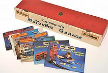 6 X MATCHBOX COLLECTORS CATALOGUES AND SCRATCH BUILT GARAGE