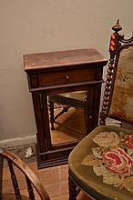 A SMALL ANTIQUE STYLE SIDE CABINET