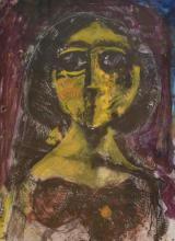ARTIST UNKNOWN, PORTRAIT, MONOTYPE, 46 X 35 CM