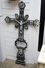 A LATE 19TH CENTURY FRENCH CRUCIFIX