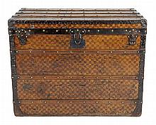 A LOUIS VUITTON DAMIER CANVAS TRUNK CIRCA 1880