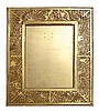 A TIFFANY STUDIOS GILT BRASS AND SLAG GLASS 'PINENEEDLE' PICTURE FRAME CIRCA 1920