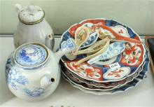 COLLECTION OF ASSORTED IMARI DISHES