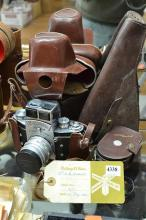 EXAKTA VAREX VX CAMERA AND ACCESSORIES, (ONCE OWNED BY SIR ERNEST EDWARD 'WEARY' DUNLOP, INCL. WESTON MASTER II UNIVERSAL EXPOSURE M.
