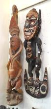TWO LARGE OCEANIC CARVINGS, INCL. FERTILITY