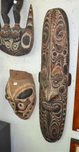 TWO OCEANIC MASKS, INCL ONE MUNDUGMORR