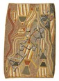 BILLY DJOMA (BORN CIRCA 1927) Gupauynw Hollow Log Ceremony c1965 natural earth pigments on bark