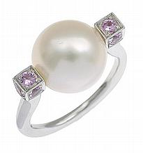 A PEARL AND DIAMOND RING BY KAILIS