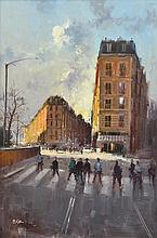 HERMAN PEKEL (born 1956) Boulevard de Rochechouart, Paris oil on board