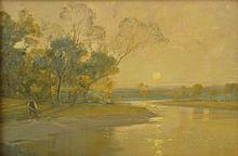 ALFRED EAST (British, 1849-1913) The Glowing Dawn oil on canvas