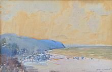 HAROLD B. HERBERT (1892-1945) The Coast Near Lorne 1943 watercolour and gouache on paper