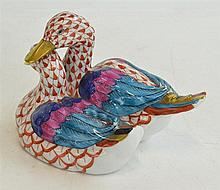 HEREND PORCELAIN FIGURE OF TWO DUCKS