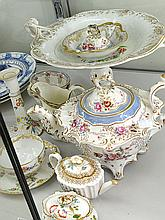 A GROUP OF 19TH CENTURY AND LATER FLORAL CHINA