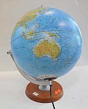 CONTEMPORARY WORLD GLOBE DESK LAMP