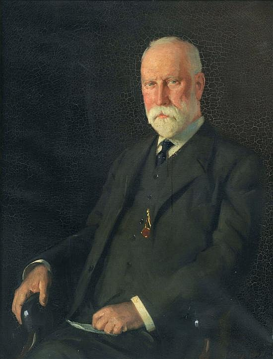 George Bell (1878-1966) Portrait of a Gentleman oil on canvas