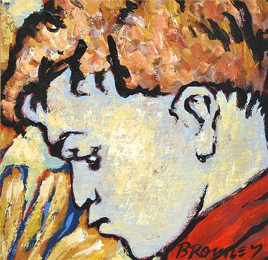DAVID BROMLEY (BORN 1960) Profile of a Boy oil on canvas on board