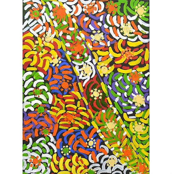 MARY KANNGI (1925-2005) Ngambu Ngambu 2000 acrylic on canvas