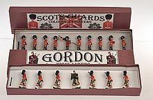 2 X BRITAINS SETS INCLUDING NO.82 COLOURS AND PIONEERS AND THE SCOTS GUARD; AND
