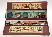 COLLECTION OF BRITAINS FARM YARD ANIMALS AND FARMYARD ITEMS