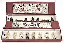 2 X BRITAINS SETS INCLUDING 1758 R.A.F ASBESTOS SUITED FIRE FIGHTERS;