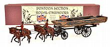 BRITAINS 203 PONTOON SECTION ROYAL ENGINEERS, IN REPRODUCTION BOX  (G BOX E-M)