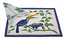 A SET OF HERMES TOUCANS PRINTED COTTON PLACEMATS