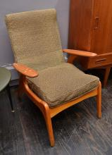 A PAIR OF FRED LOWEN SC55 CHAIRS NEEDING REUPHOLSTERING