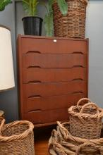 A DANISH TEAK CHEST OF DRAWERS
