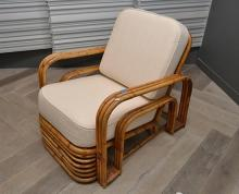 A 1940'S DECO BAMBOO LOUNGE CHAIR