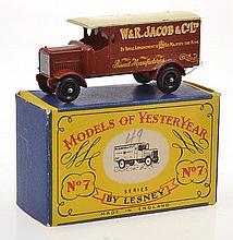 RARE MATCHBOX MODELS OF YESTERYEAR Y7 1918 LEYLAND 4-TON VAN