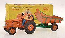 CIJ 3/ 34 TRACTEUR AGRICOLE REMORQUE
