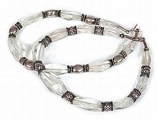 TWO INDIAN CRYSTAL CHOKER-LENGTH NECKLACES