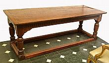 A LATE 17TH CENTURY FLEMISH OAK REFECTORY TABLE