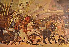 ARTIST UNKNOWN, IN THE STYLE OF BENOZZO GOZZOLI (CIRCA 1421-1497), 20TH CENTURY  Crusades Scene  acrylic on canvas  200 x 300cm