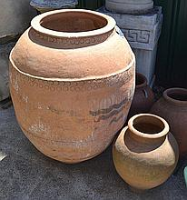 A SPANISH TERRACOTTA POT