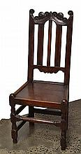 A PAIR OF 17TH CENTURY OAK HALL CHAIRS