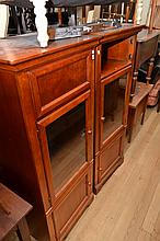TWO MATCHING GLAZED SIDE CABINETS