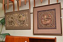 TWO FRAMED THAI EMBROIDERIES