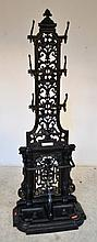 A VICTORIAN CAST IRON HALL STAND (REPAINTED)