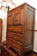 AN EARLY 20TH CENTURY OAK CABINET