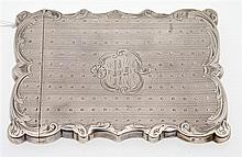AN ANTIQUE STERLING SILVER CARD CASE