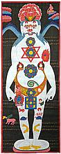 A NEPALESE THANGKA OF THE CHAKRAS,