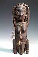 A COLLECTION OF FIVE PNG ANCESTRAL FIGURES,