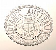 ADVANCE AUSTRALIA COMMEMORATIVE GLASS PLATE