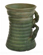 UNA DEERBON RIBBED AND MATT GLAZED VASE WITH