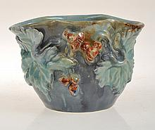 JOHN CASTLE HARRIS GRAPE AND LEAF APPLIED BOWL