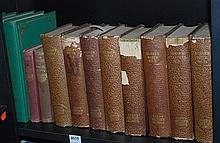 A SHELF OF VINTAGE LITERATURE INCL. FIVE VOLUMES OF THE DRAMATIC WORKS OF MOLIERE