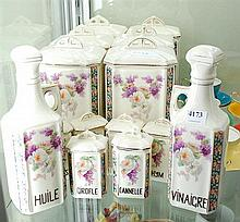 A COLLECTION OF FRENCH ART DECO CANISTERS