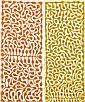 MITJILI NAPURULLA (BORN CIRCA 1930) Watiya Tjuta (pair) 2001 acrylic on linen (2)